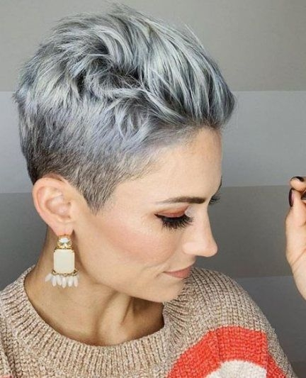 Best 33 ideas for hair color grey silver short gray hairstyles Gray Short Haircuts Inspirations