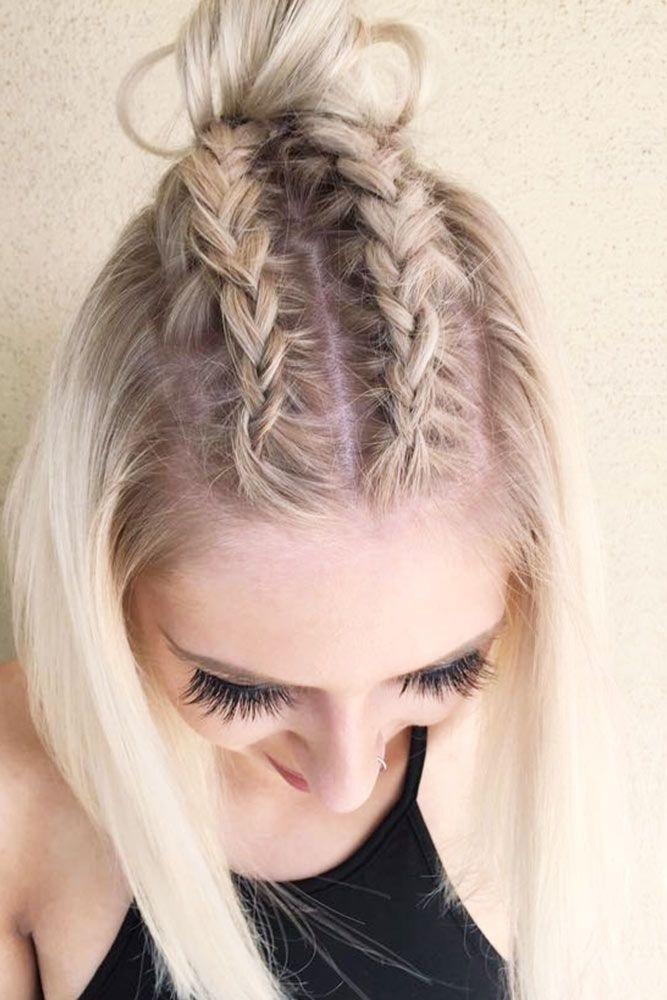Best 35 cute braided hairstyles for short hair lovehairstyles Easy Braided Hairstyle For Short Hair Ideas