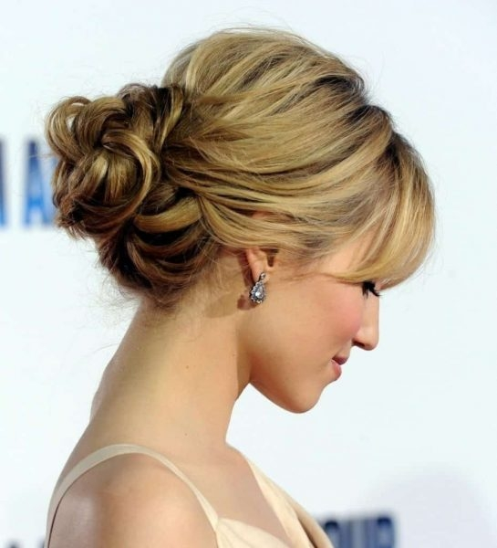 Best 41 updos with bangs thatll get you noticed in 2020 Short Hair With Fringe Updos Inspirations