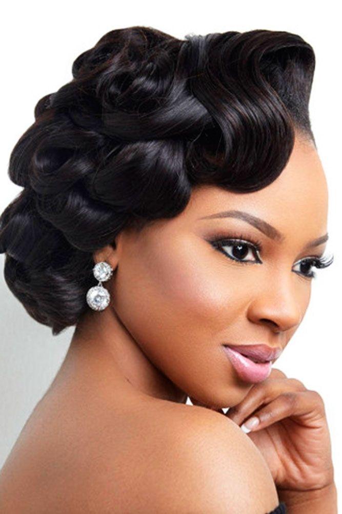 Best 42 black women wedding hairstyles that full of style African American Short Wedding Hairstyles Designs