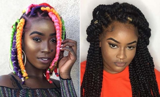 Best 43 big box braids hairstyles for black hair stayglam Hair Styles For Box Braids Choices
