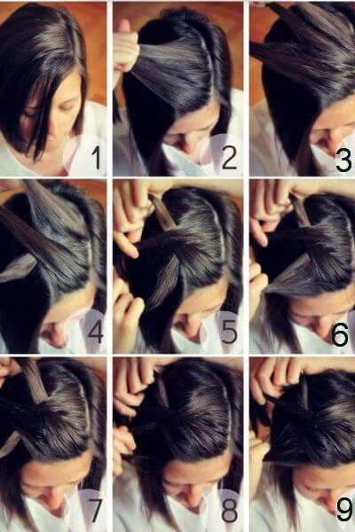 Best 50 incredibly easy hairstyles for school to save you time Cute Hairstyle For Short Hair Step By Step Choices