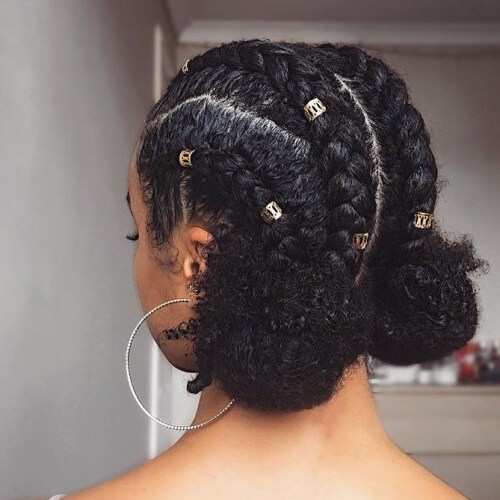 Best 50 protective hairstyles for natural hair for all your needs Natural Black Hair Braid Styles Inspirations