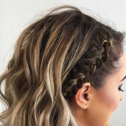 Best 50 ultra pretty prom hairstyles for short hair all women Prom Hairstyles For Short Hair With Braids Ideas