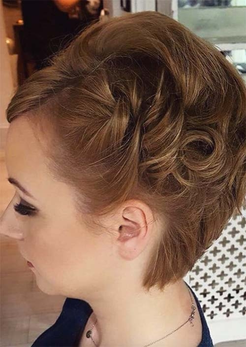 Best 63 creative updos for short hair perfect for any occasion Pin Up Styles For Short Hair Ideas