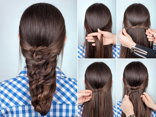 Best 9 easy and simple braided hairstyles for long hair styles Easy Hairstyles For Long Hair Braids Step By Step Inspirations