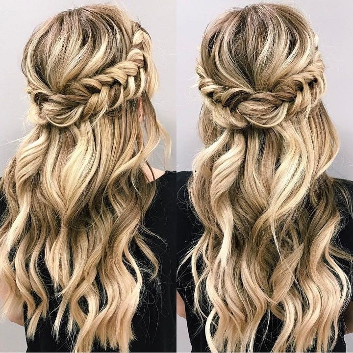 Best braid half up half down hairstyle hair styles long hair Wedding Hairstyles For Long Hair Half Up Half Down With Braids Ideas