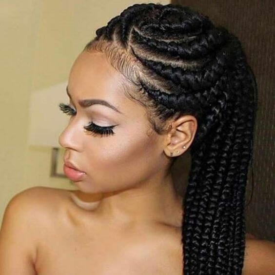 Best braid styles for natural hair growth on all hair types for Natural Black Hair Braid Styles Ideas
