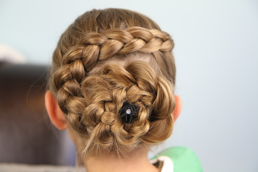 Best dutch flower braid updo hairstyles cute girls hairstyles Wedding Prom Hairstyle For Long Hair Updo Tutorial With Braided Flowers Choices