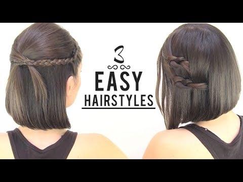 Best easy hairstyles for short hair Easy Hairstyles For Short Hair To Do At Home Inspirations