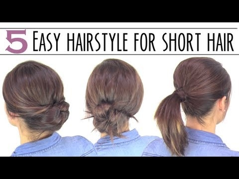 Best easy hairsyles for short hair Easy Updo Hairstyles For Short Length Hair Ideas
