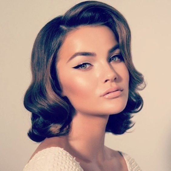 Best glamorous bob hair styles wedding hair and makeup hair Vintage Short Hair Styles Inspirations