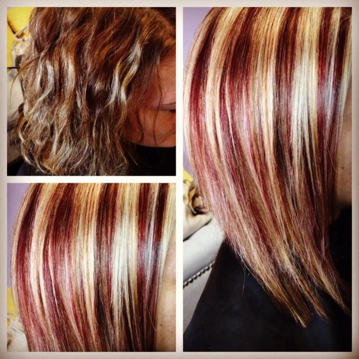Best hair portfolio audreys hair studio indy hair styles Short Black Hair With Blonde And Red Highlights Ideas