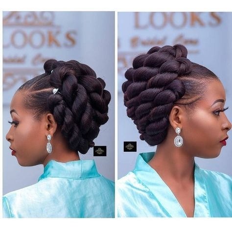 Best image may contain one or more people natural hair jewelry Black Braided Updo Hairstyles For Weddings Ideas