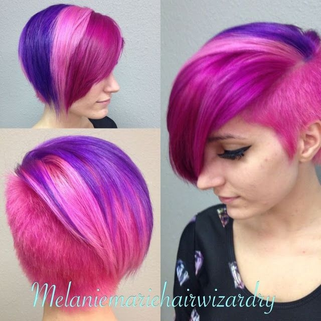 Best multi colored short hairstyles short dyed hair short Short Colored Haircuts Inspirations