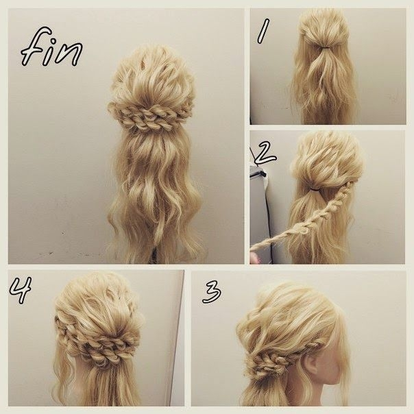 Best pin on hair styles Braided Updos For Long Hair Tutorial Inspirations
