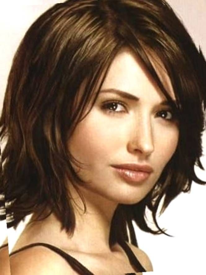 Best pin on my hair styles Medium Short Hairstyles For Round Faces And Thick Hair Inspirations
