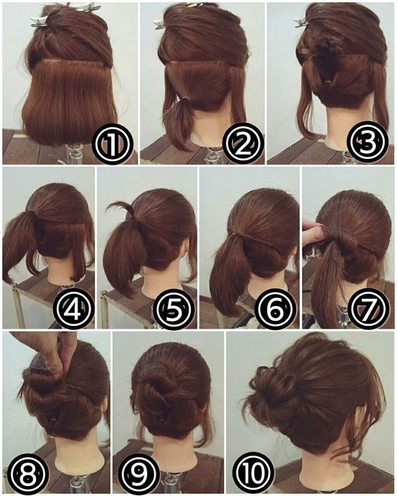 Best pin on my style pinboard Cute Bun Hairstyles For Short Hair Inspirations