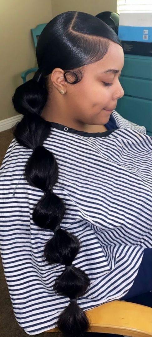 Best pinterest truubeautyspinteresttruubeautys in 2020 Cute Ponytail Hairstyles For Black Short Hair Choices