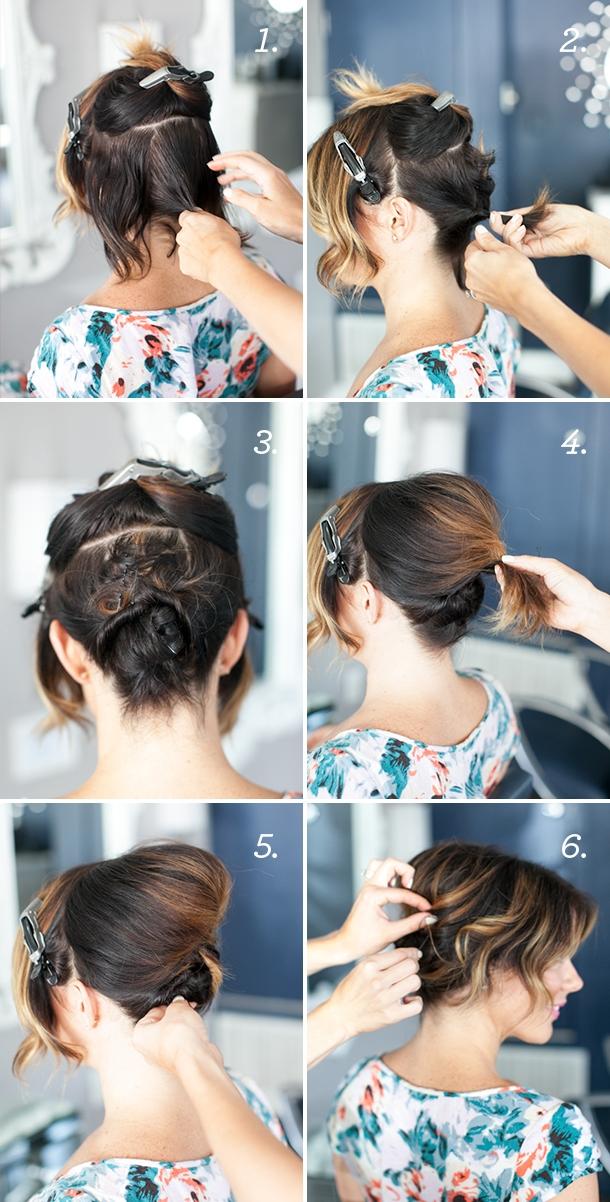 Best pretty simple updo for short hair camille styles Cute Fast Hairdos For Short Hair Ideas