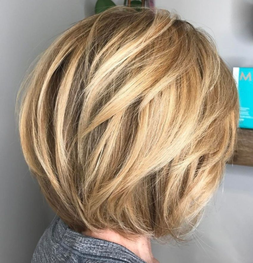 Best rounded bob with dimensional layers short hairstyles for Style Short Layered Hair Inspirations
