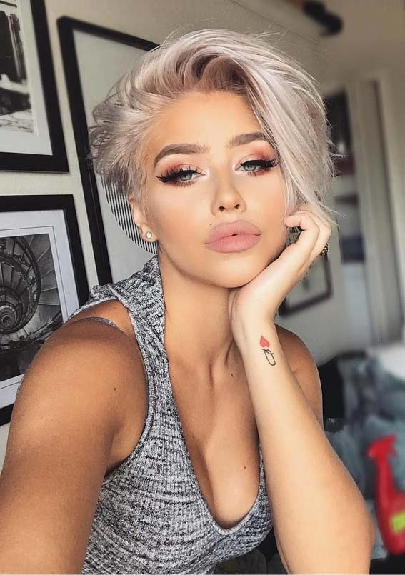 best short blonde haircuts hairstyles for ladies in 2018 Short Blonde Haircuts Inspirations