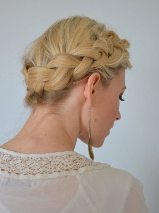 Best simple and easy hair updos popular haircuts Braided Updo Hairstyle For Long Hair Inspirations