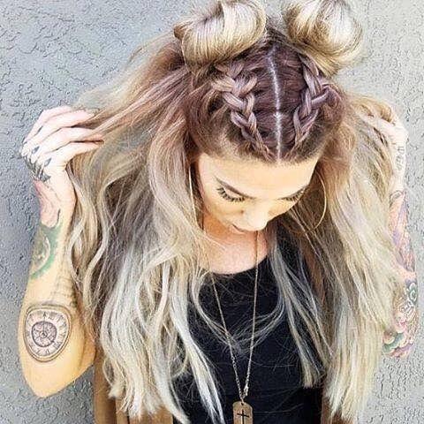 Best stonexoxstone youtubeigpintumblr medium hair Braid Hairstyle Tumblr Inspirations