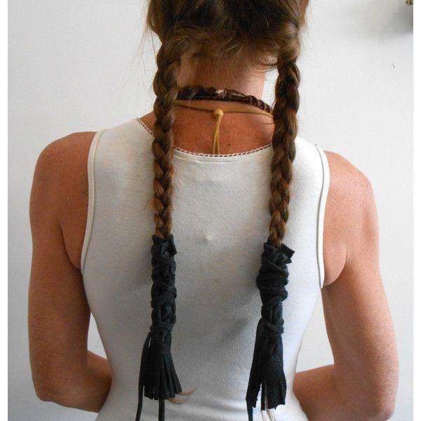 black leather braid wraps with fringe native american Native American Braid Wraps Designs