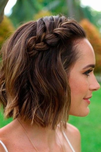 braided beauty in 2020 short hair trends short wedding Hairdos For Short Hair Pinterest Inspirations