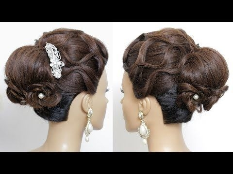 bridal updo tutorial wedding prom hairstyles for long hair Wedding Prom Hairstyle For Long Hair Updo Tutorial With Braided Flowers Inspirations