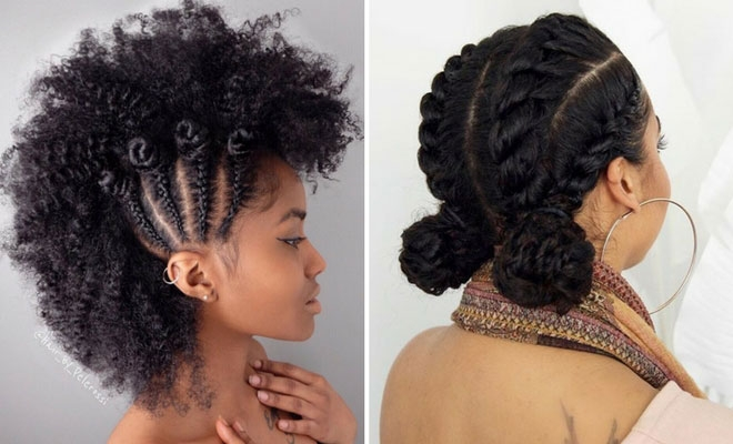 Cozy 21 chic and easy updo hairstyles for natural hair stayglam Quick Hairstyles For African American Hair Ideas