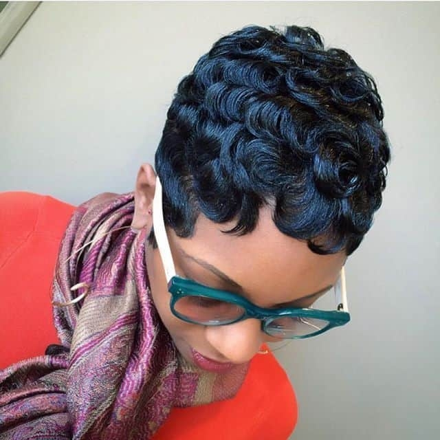 Cozy 25 blissful finger waves for short hair hairstylecamp African American Short Finger Wave Hairstyles Designs
