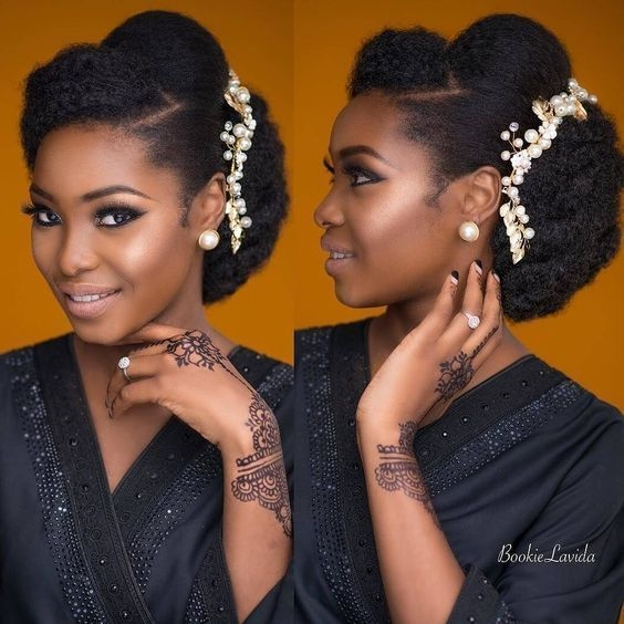 Cozy 30 beautiful wedding hairstyles for african american brides Wedding Hairstyles Natural African American Hair Ideas