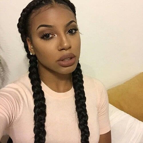 Cozy 50 lovely black hairstyles african american ladies will love African American French Braid Styles Pictures