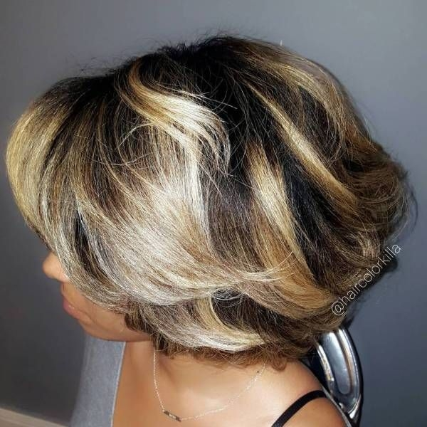 Cozy 50 most captivating african american short hairstyles African American Hairstyles With Blonde Highlights Designs