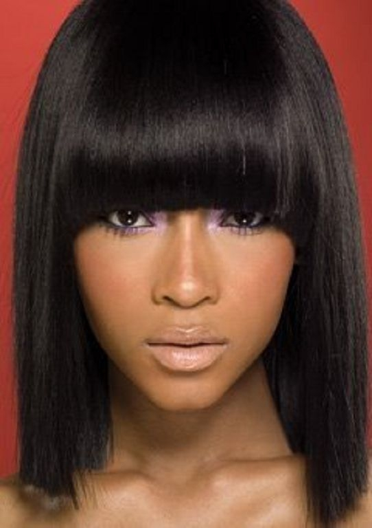 Cozy 50 showiest bob haircuts for black women hair styles African American Hairstyles With Bangs Ideas
