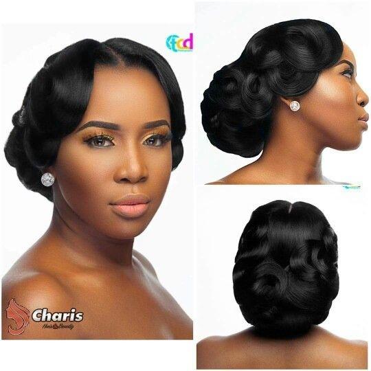 Cozy african american wedding hair style black wedding African American Wedding Hairstyles For Medium Hair