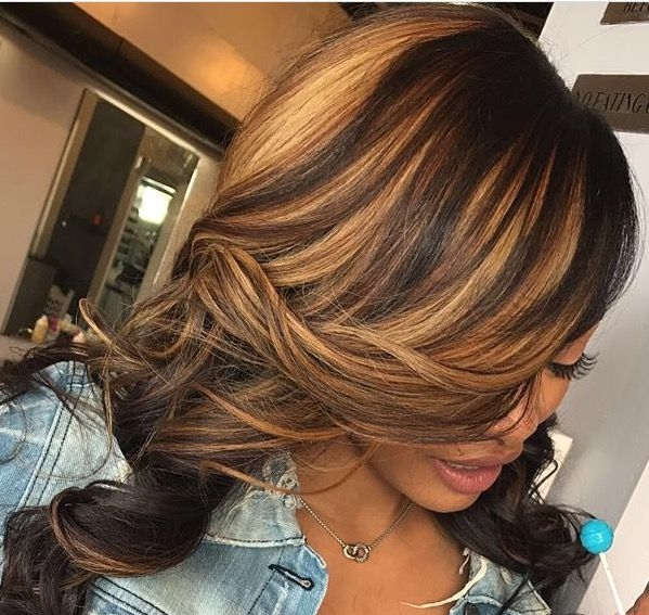 Cozy blonde highlights hair styles honey blonde hair hair African American Hairstyles With Highlights