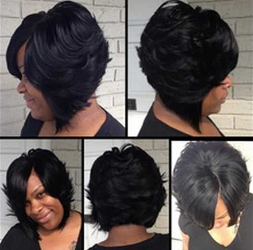 Cozy bob layered hair for black women 500493 pixels bob African American Layered Hairstyles
