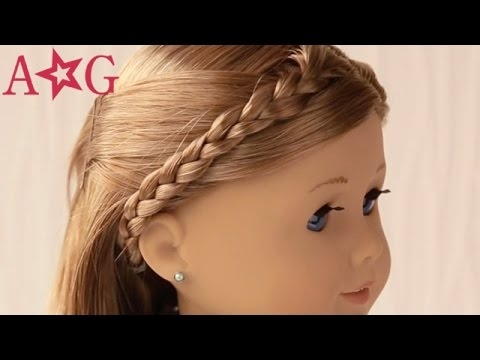 Cozy braided headband doll hairstyles american girl Cool Hairdos For American Girl Dolls