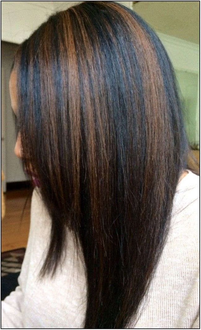 Cozy cameral highlight for black women black hair and caramel African American Hairstyles With Highlights Ideas