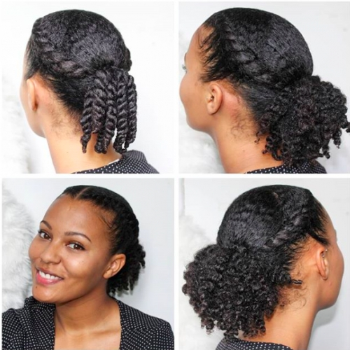 Cozy engrave your stylish outfit with a natural hairstyles on the Updos For Medium Length Hair African American