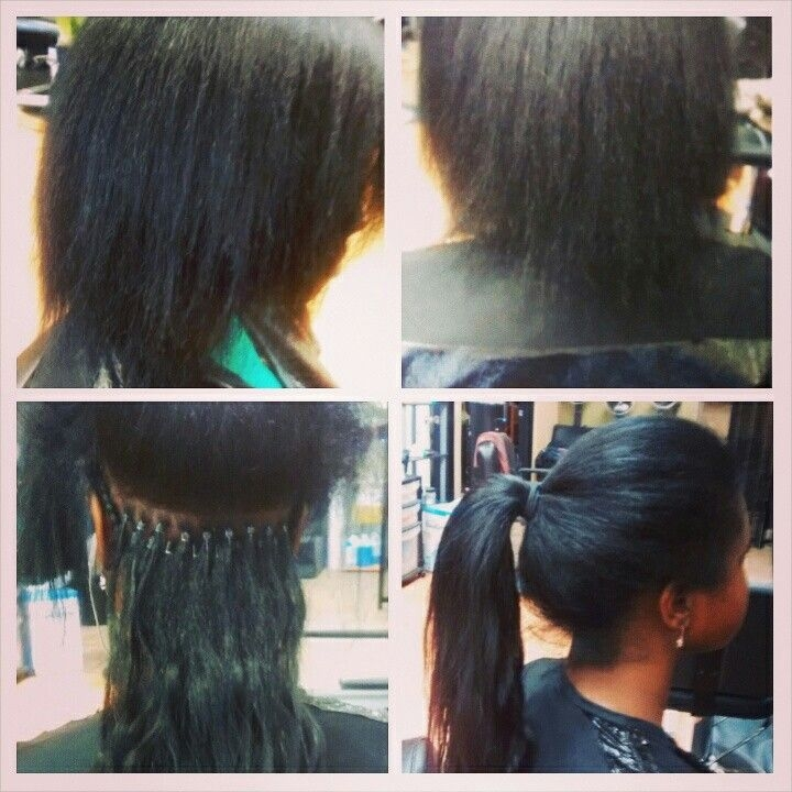 Cozy i did some micro link hair extensions over the weekend stay Hair Extension Styles For African American Hair Designs