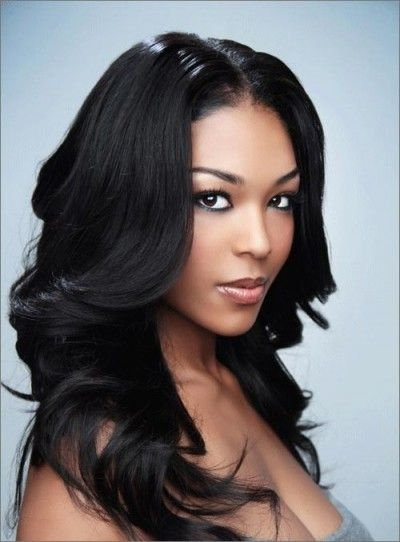 Cozy long beautiful natural hairstyle african american women Hairstyles For African American Women With Long Hair Designs