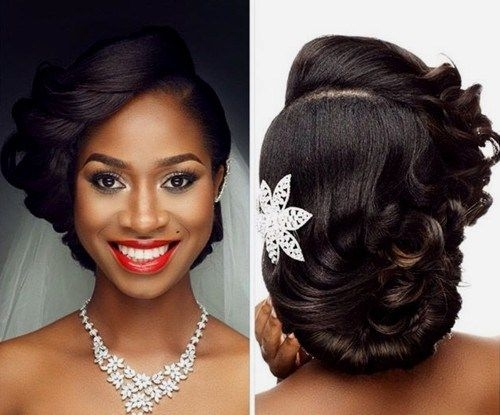 Cozy pin on bridesmaid Vintage Wedding African American Hair