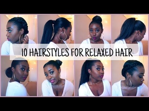 Elegant 10 easy and quick hairstyles for relaxedtexlaxed hair Protective Styles For Short Relaxed Hair Pinterest Ideas