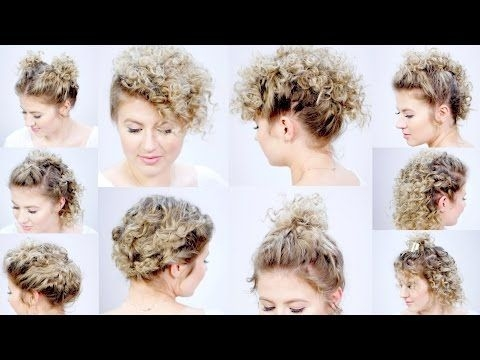 Elegant 10 easy hairstyles for short hair with curling iron milabu Hairstyles For Curly Hair Short Easy Ideas