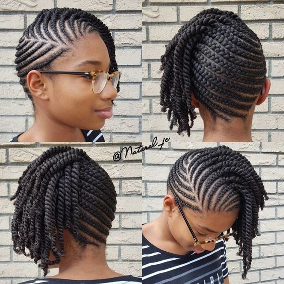 Elegant 10 natural hair winter protective hairstyles without Cornrow Hairstyles For African American Hair