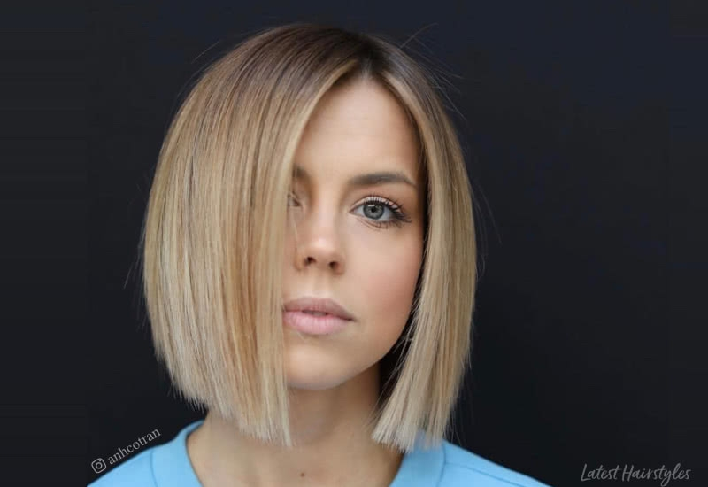 Elegant 14 best blunt cut bob haircuts for every face shape Short Blunt Haircuts With Bangs Ideas